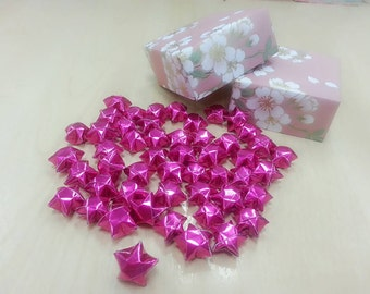 50pcs Sparkling Pink Lucky Start with Lovely Traditional Japanese Washi pattern Floral Masu Gift Box
