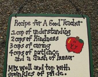 Teacher Gifts 5111 Recipe for a Good Teacher