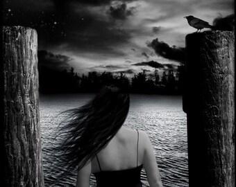 Lingering Hope: Fantasy Dark Art Print