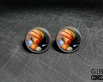 Solar System Studs Planet Earrings Solar System Jewelry - Solar System Earrings Studs - Solar System Jewelry Earrings Studs Planet Studs