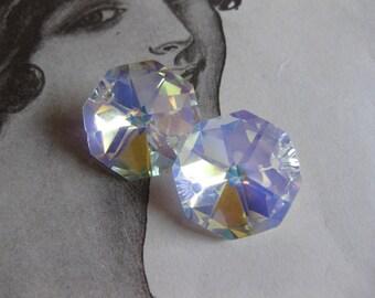 4 PC - Chandelier Crystal / Lead Crystal AB Finish 18MM - QQ10