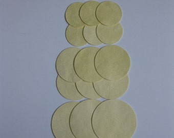 Circles 24 Pale Yellow Ultrasuede