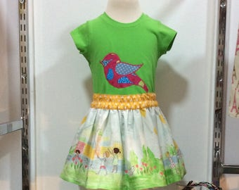 summer time cotton gathered skirt
