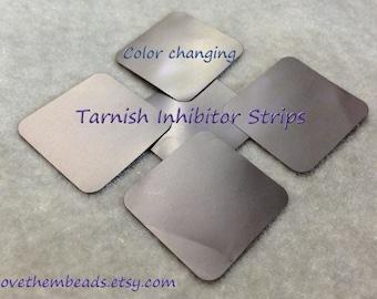 Intercept Anti-Tarnish Tabs tarnish prevention prevent tarnish - keep silver clean protect jewelry - oxidation inhibitor color chainging