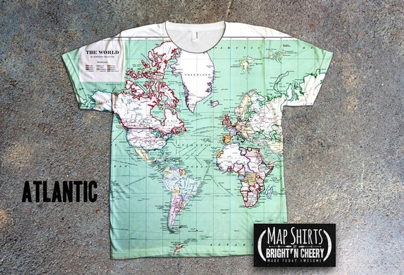 Vintage world map tshirt atlas of canada antique map 1915 gumiabroncs Choice Image