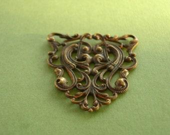 Vintaj Nouveau crest, filigran, Vintaj-Anhänger, Vintaj-Lieferung