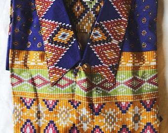 Indonesian batik patterned shirt