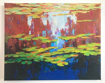 Waterlilies, Giggle Print on Canvas, Ready to Hang
