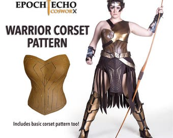 Amazon Warrior Corset Pattern - Includes Basic Corset Pattern! Digital Download