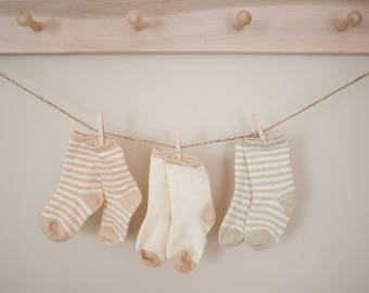Baby Socks, Organic Baby Socks,Newborn Socks,3-6M Socks,Neutral Socks,Super Soft Socks,Natural Socks,Eco-Friendly Socks,Organic Cotton Socks