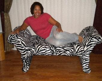 Custom hand Made Upholstered Bench