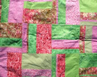 Light weight cotton baby quilt.