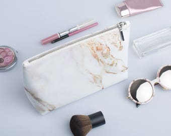 Cosmetic Bag Personalized Cosmetic Bag pencil case Marble make bag Gift for her Bridesmaid gift Hashtag makeup bag Bridal party gift CL7003