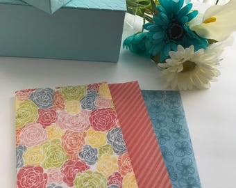 Handmade B6 Travelers Notebook Multi Floral Vellum Sheets