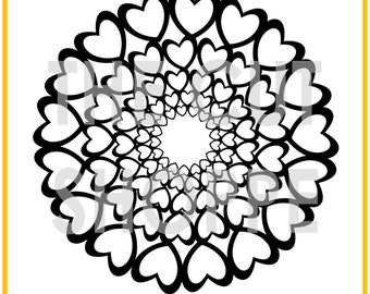 The All Heart Remix cut file is a repeating heart background, that can be used for your scrapbooking and paper crafting projects.