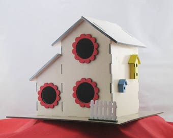 2-Story 3-Hole Multi-Family Birdhouse Kit