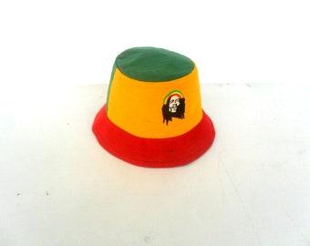 Bucket Hat Boho Rasta Hat Hemp Hat Hippie Reggae Bucket hat unisex Cap hat Bohemian Jamaican hat Sun Hat gift