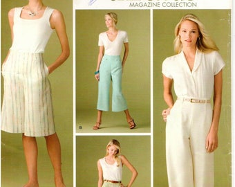 Simplicity UNCUT Pattern 3756 - Threads Magazine Collection - Misses Pants and Shorts in Two Lengths - Sizes 10-18