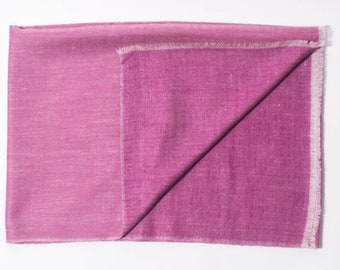 100% Cashmere Reversible Rose & Pink