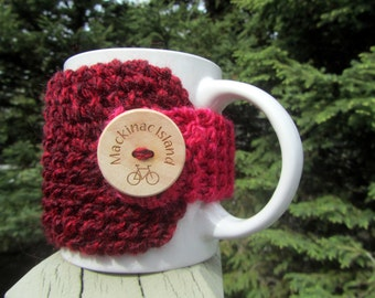 Mackinac Island Coffee Cozy, Up North Michigan, Coffee Cup Cozy, Mackinac, Mackinac Island, Mackinaw City, Up North, Michigan