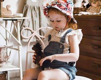 kids summer hat,girls bucket hat,baby sun protection,floral girls hat,flower sun hats,girls birthday gift,kids sun hats,wide brim hat