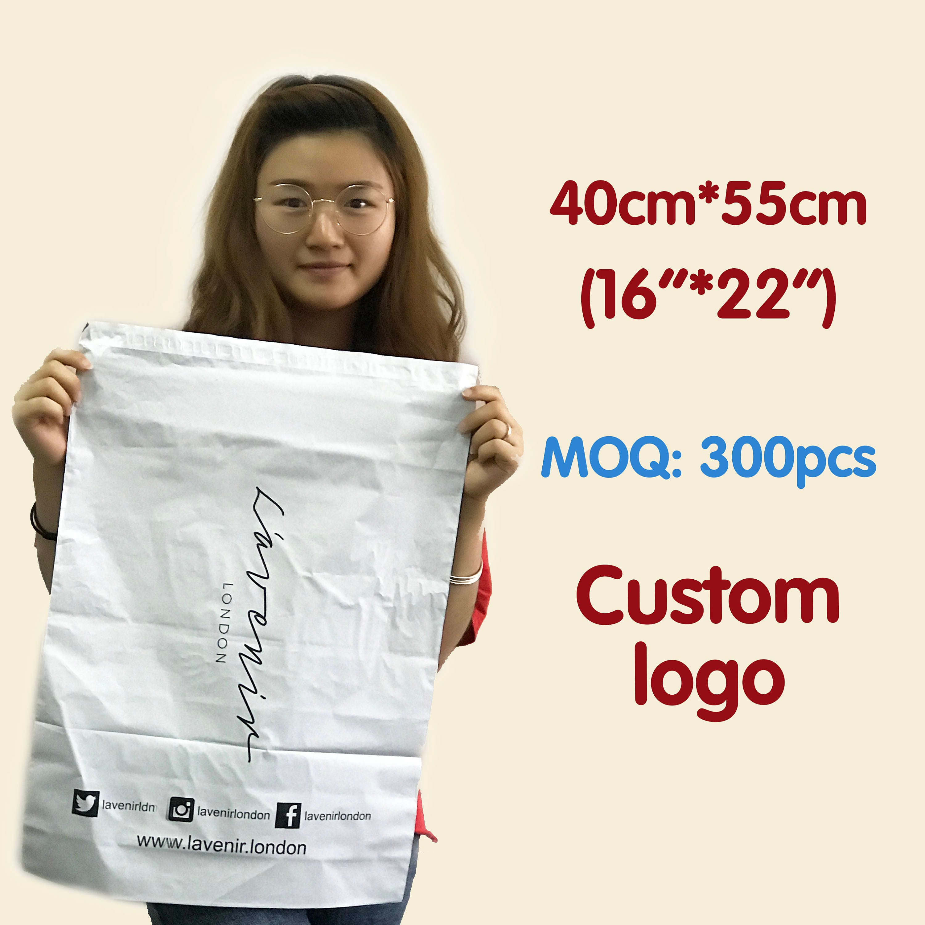 300 poly mailers 10x14 custom your logo poly mailers