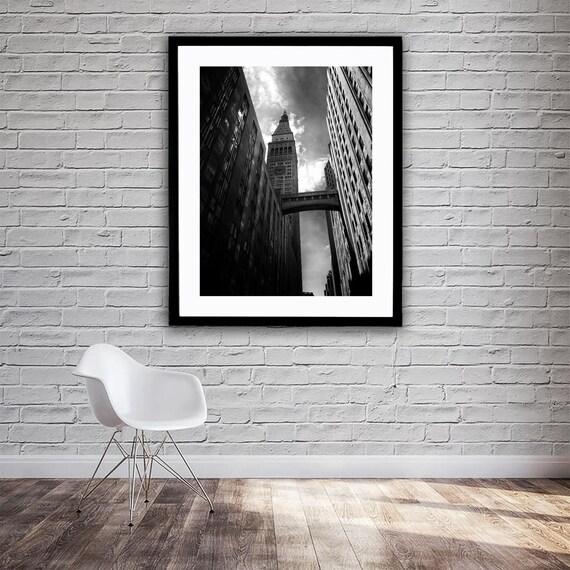 New York City NYC Gotham City Skyscraper Black & White