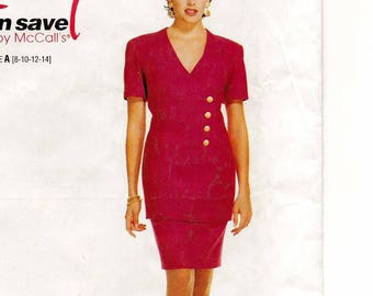 """A Princess Seam Fitted, Front Button Top & Slim Skirt Pattern for Women: Uncut - Sizes 8-10-12-14, Bust 31-1/2""""-36"""" ~ Stitch 'n Save 7472"""
