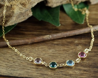 Birthstone Necklace, Gold Mothers Necklace, Silver Mom Necklace, Mothers Necklace, Gift for Mom, Mothers Day Gift, Sterling Silver Necklace