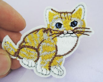 Iron On Patch - Cat Kitty Patches Animal patch Applique embroidered patch Sew On Patch