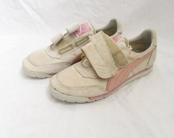 vintage puma comet sneakers girls size 4 deadstock NIB 80s