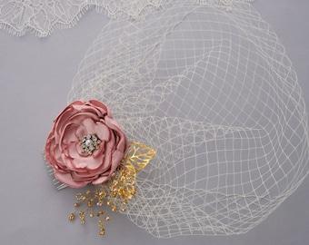 Wedding Veil, Birdcage Veil, Bridal Headpiece