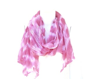 Cotton Muslin Shibori Dyed Scarf Wrap