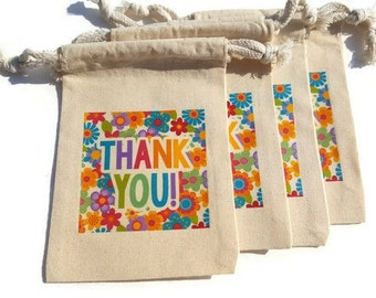 Religious easter gift bags set of 10 muslin 4x6 he is risen thank you floral muslin gift bags 4x6 favor goody bags flowers set of 4 custom negle Choice Image