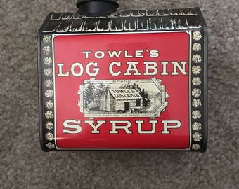 Towles log cabin syrup tin