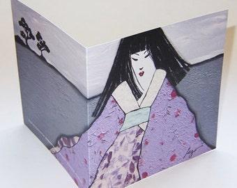 JAPAN5 greeting card