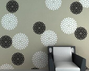 Reusable flower wall stencil, Flower pattern Stencil, FS - 02, DIY home decor