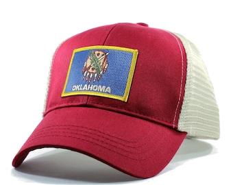 Homeland Tees Oklahoma Flag Hat - Trucker