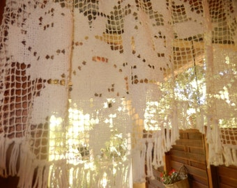 """french vintage bise Breeze or lace for window curtain"