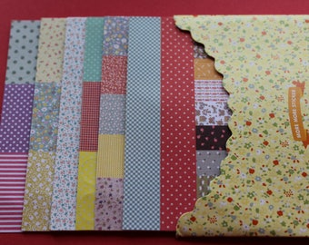 8 sheets stickers flowers, polka dots... different shapes