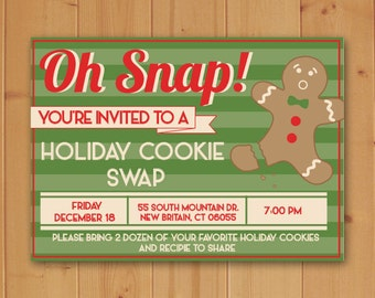 Holiday Cookie Swap Invitation-Cookie Swap Invitation-Cookie Swap-Christmas Cookie Swap Invitation-Cookie Swap-Christmas Party Invitation
