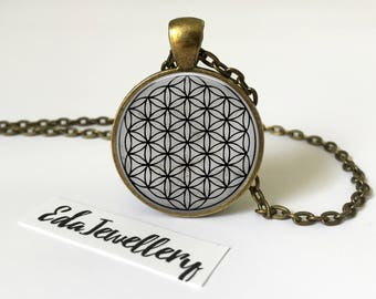 Flower of Life Pendant, Sacred Geometry Necklace, Jewellery