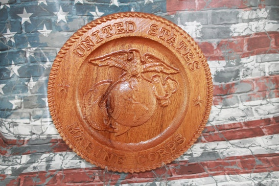 Marine Corps carved wood, marine gifts, retirement, USMC, Wood Marine Corps, boot camp graduation, EGA, personalized gifts, USMC gifts,