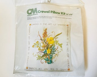 1976 Columbia Minerva by Hallmark Crewel Pillow Kit