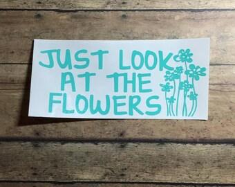 look at the flowers / decal / vinyl / flowers / look / carol / zombies / walkers