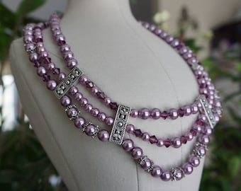 Regal Amethyst, One-of-a-kind, handmade, necklace will make you sparkle