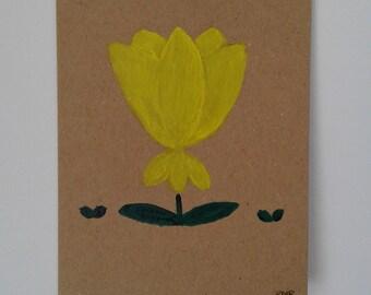 Original hand painted greetings card