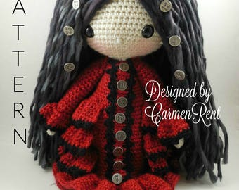 Alexis-Steampunk-Amigurumi Doll Crochet Pattern PDF