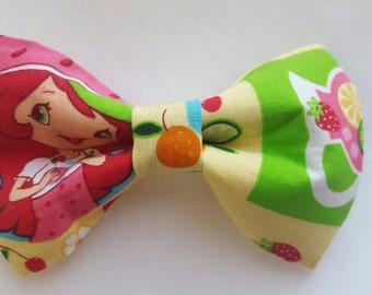 Strawberry Shortcake inspired hair bow/ boys bow tie/ dog bow tie