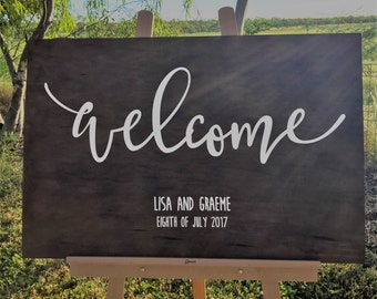 Wedding Welcome Sign | Wedding Ceremony Signs, Wedding Decorations - Rustic Wedding Welcome Sign for your Wedding, Wooden Wedding Sign